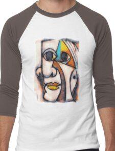 picasso graffiti # 5 Men's Baseball ¾ T-Shirt