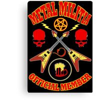 Metal Militia Colour 2 Canvas Print