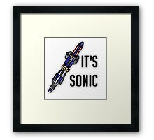 Doctor Who - It's Sonic Framed Print