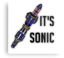 Doctor Who - It's Sonic Metal Print