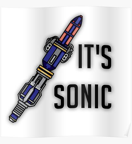 Doctor Who - It's Sonic Poster