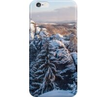 Snowy Rocks of Saxon Switzerland iPhone Case/Skin
