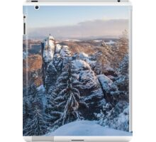 Snowy Rocks of Saxon Switzerland iPad Case/Skin
