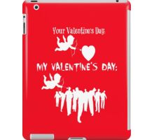 Funny Walking Dead Mid-Season Premiere Parody Meme Your Valentines Day VS My Valentines Day Cupid Walkers Zombies TWD iPad Case/Skin