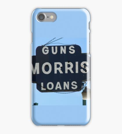 Guns and Loans, Street Sign iPhone Case/Skin