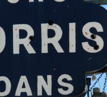 Guns and Loans, Street Sign Sticker