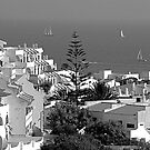 Albufeira, Algarve - B&W by Tom Gomez