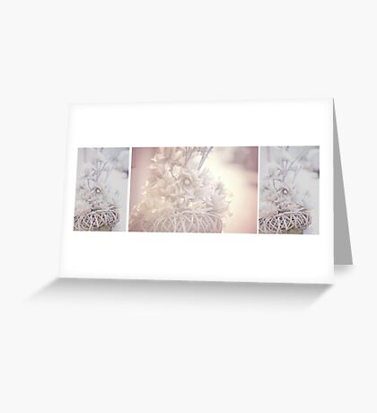 Silver Vintage Dream. Triptych Greeting Card