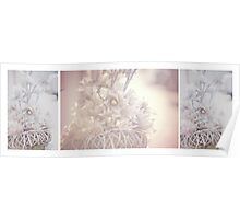 Silver Vintage Dream. Triptych Poster