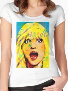 BLONDIE DEBBIE HARRY Women's Fitted Scoop T-Shirt