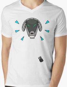 Robot Dog Mens V-Neck T-Shirt