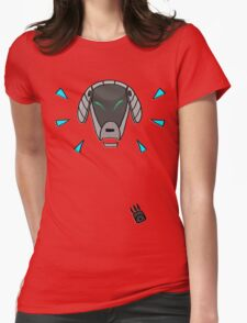 Robot Dog Womens Fitted T-Shirt