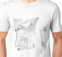 Love One - Small Abstract Landscape,  black & Gold ink on wotercolor paper Unisex T-Shirt