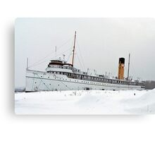 SS Keewatin in Winter White Canvas Print