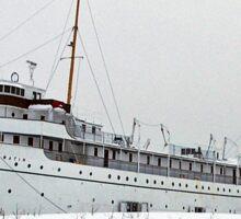 SS Keewatin in Winter White Sticker