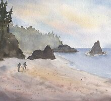 Beach Walk by Diane Hall