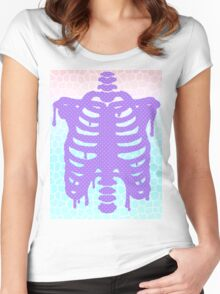 Pastel Ribcage Women's Fitted Scoop T-Shirt