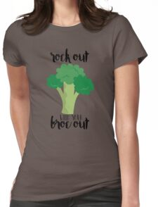 Rock out with your broc out - Broccoli Womens Fitted T-Shirt