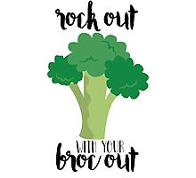 Rock out with your broc out - Broccoli Photographic Print
