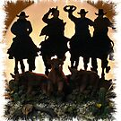 """""""EVENING ROUNDUP""""... prints and products by © Bob Hall"""