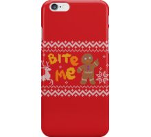Ugly Christmas Sweater: Bite Me Gingerbread Man  iPhone Case/Skin