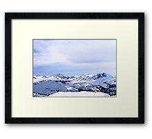 Misty Mountains Framed Print