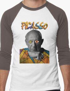 Picasso Photograph (Modern Art Style) Men's Baseball ¾ T-Shirt