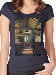 Church of St Olaf, Wasdale head. Interior. Women's Fitted Scoop T-Shirt