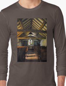 Church of St Olaf, Wasdale head. Interior. Long Sleeve T-Shirt
