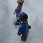 Snowboarding Down the Hill by Shauna  Kosoris