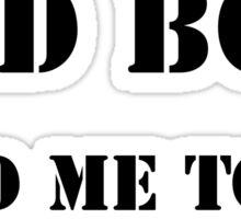 Bad Boy Garage Sticker
