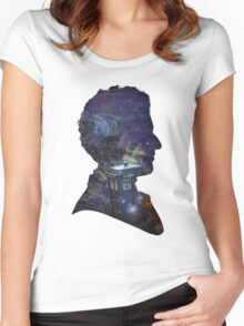 Space & Capaldi Women's Fitted Scoop T-Shirt