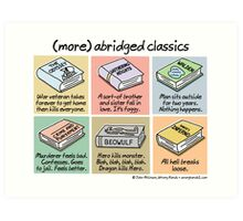 (more) abridged classics Art Print