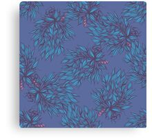 Hand drawn floral seamless pattern. Canvas Print