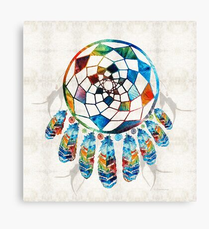 Colorful Dream Catcher by Sharon Cummings Canvas Print