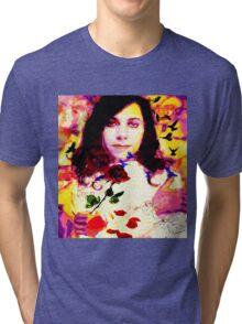 THE LAST LIVING ROSE P J HARVEY Tri-blend T-Shirt