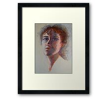 Two Faces - Portrait Of A Woman - Outsider Art Framed Print