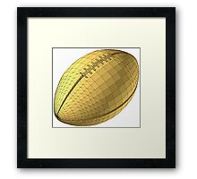 rugby ball Framed Print