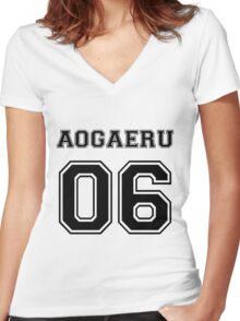Spirited Away - Aogaeru Varsity Women's Fitted V-Neck T-Shirt