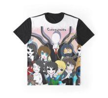 CreepyPasta Group Graphic T-Shirt