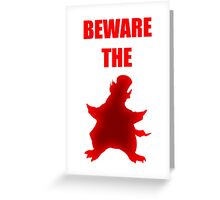 Beware the Penguin Greeting Card