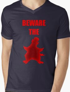 Beware the Penguin Mens V-Neck T-Shirt