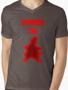 Beware the Penguin Mens V-Neck T-Shirt