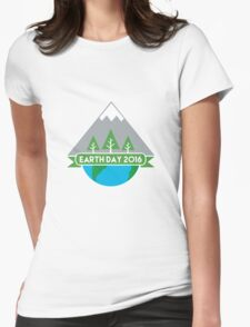Earth Day 2016 Womens Fitted T-Shirt