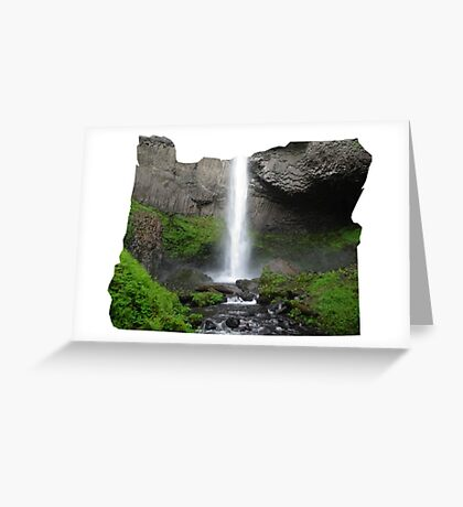 OR- Latourell Falls Greeting Card