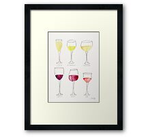 Wine Collection Framed Print