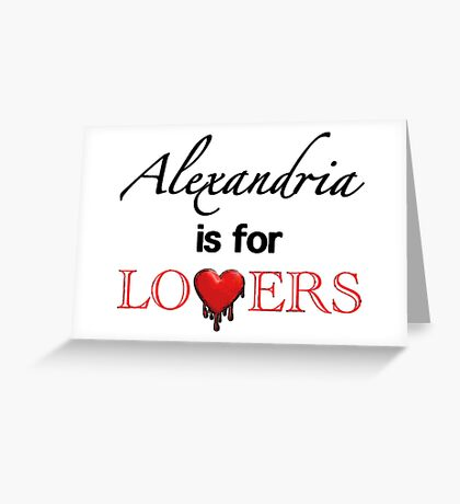 "The Walking Dead - ""Alexandria Is For Lovers"" Comic Style Greeting Card"