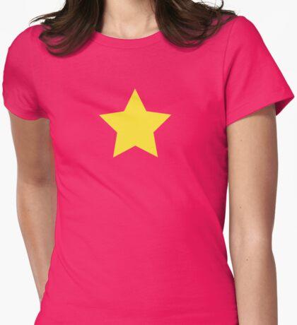Yellow Star Leggings T-Shirt Sticker I AM Womens Fitted T-Shirt