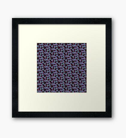 PIXEL BONES (Retro) Framed Print