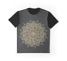GOLD ON BLACK MANDALA Graphic T-Shirt